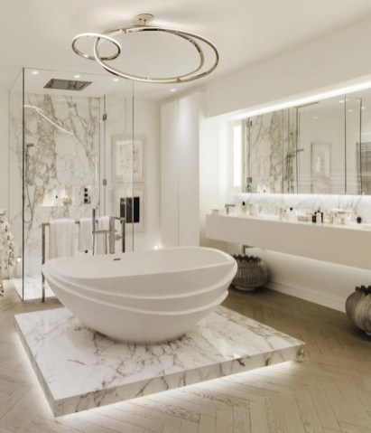Luxurious marble bathroom designs (14)