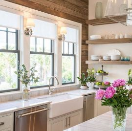 Modern farmhouse kitchen design ideas 49