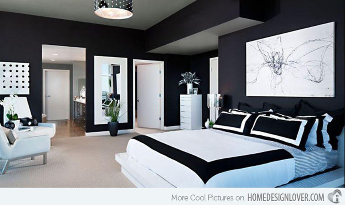 Stylish stylish black and white bedroom ideas (10)