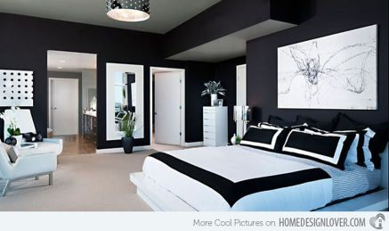 Stylish stylish black and white bedroom ideas (10)