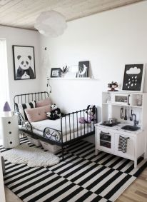Stylish stylish black and white bedroom ideas (11)