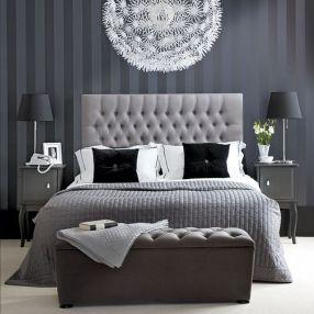 Stylish stylish black and white bedroom ideas (21)