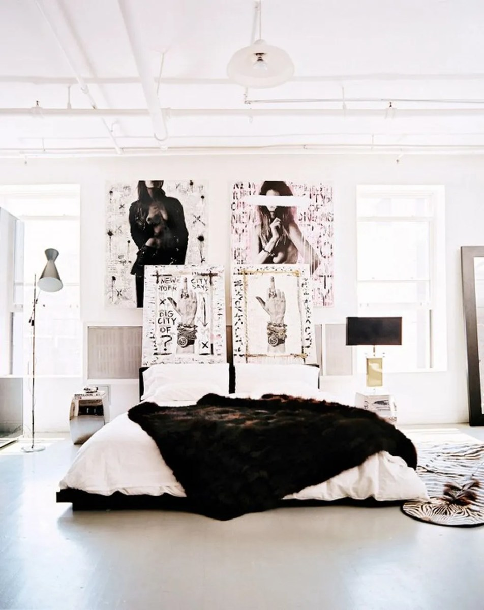 Stylish stylish black and white bedroom ideas (22)