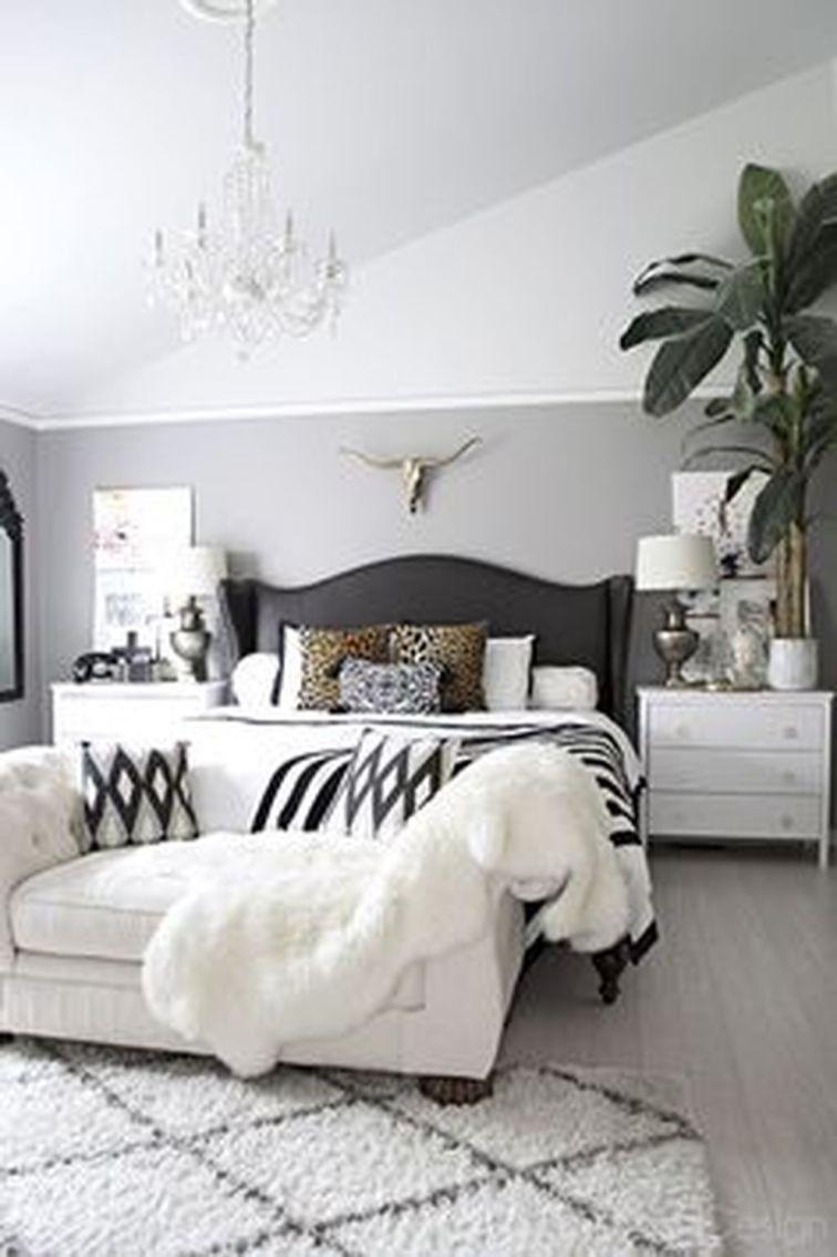 Stylish stylish black and white bedroom ideas (4)