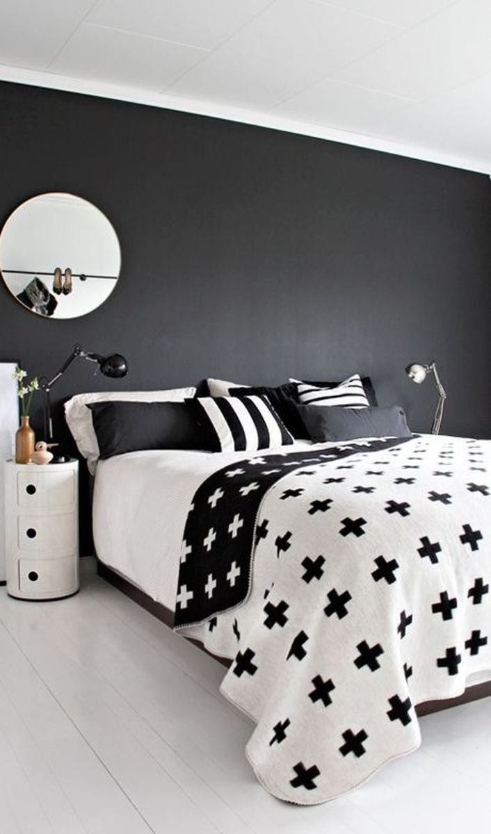 Stylish stylish black and white bedroom ideas (43)
