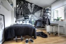 Stylish stylish black and white bedroom ideas (49)