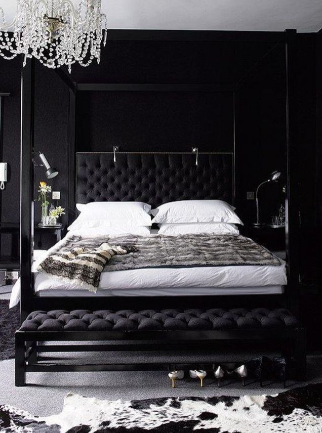 Stylish stylish black and white bedroom ideas (63)