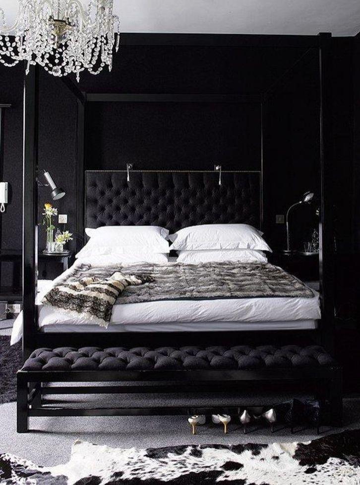 Stylish stylish black and white bedroom ideas (63)