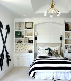 Stylish stylish black and white bedroom ideas (8)