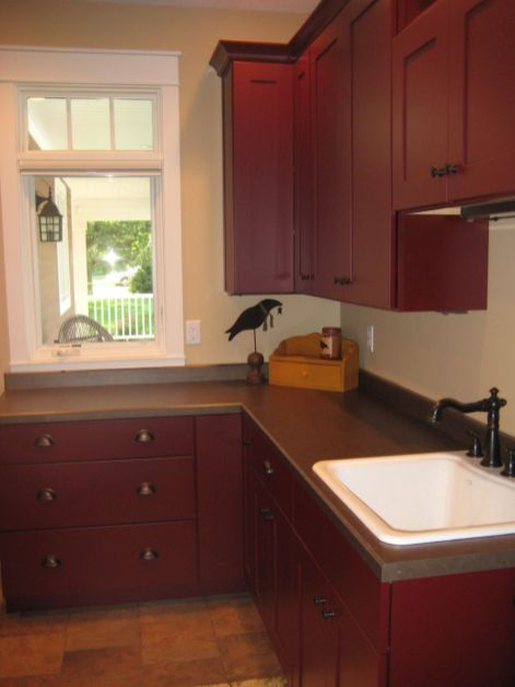 Amazing black and red kitchen decor 04