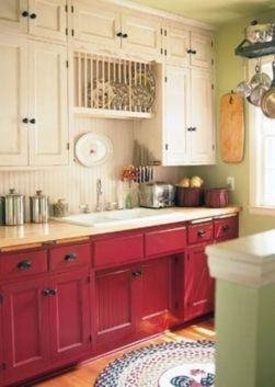 Amazing black and red kitchen decor 12