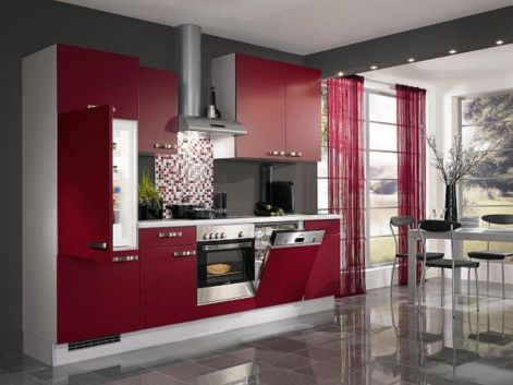 Amazing black and red kitchen decor 13
