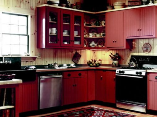 Amazing black and red kitchen decor 18