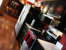Amazing black and red kitchen decor 20