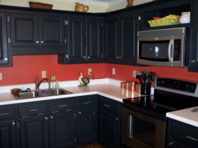 Amazing black and red kitchen decor 31