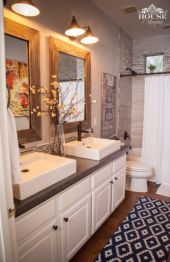 Amazing guest bathroom decorating ideas 07
