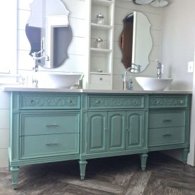 Bathroom vanity ideas with makeup station 01
