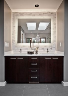 Bathroom vanity ideas with makeup station 07