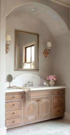 Bathroom vanity ideas with makeup station 14