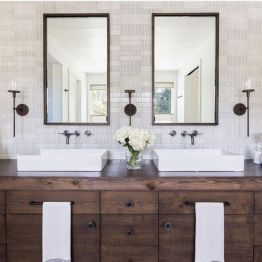 Bathroom vanity ideas with makeup station 25