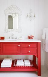 Bathroom vanity ideas with makeup station 29