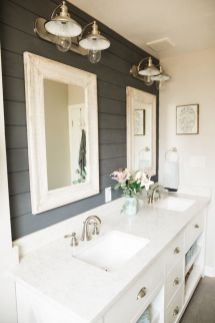 Bathroom vanity ideas with makeup station 32