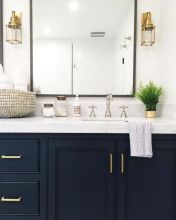 Bathroom vanity ideas with makeup station 42