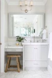 Bathroom vanity ideas with makeup station 43