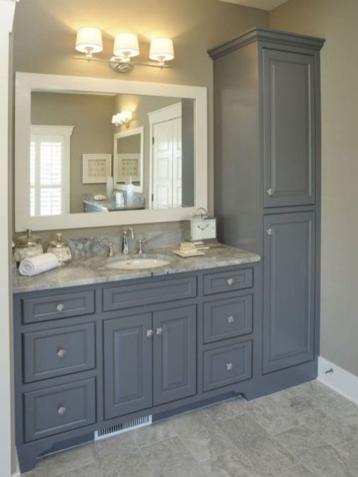 Bathroom vanity ideas with makeup station 55