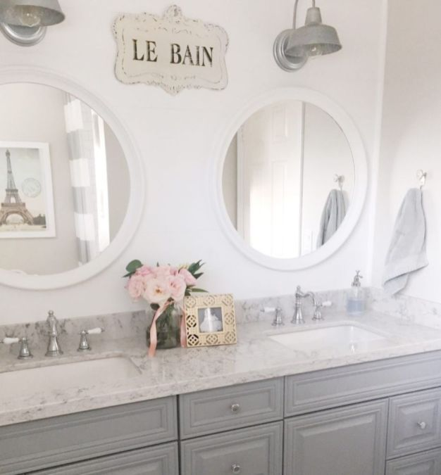Bathroom vanity ideas with makeup station 56
