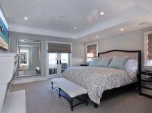 Beautiful bedroom design ideas using grey carpet 004