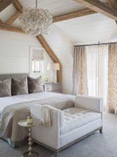 Beautiful bedroom design ideas using grey carpet 005