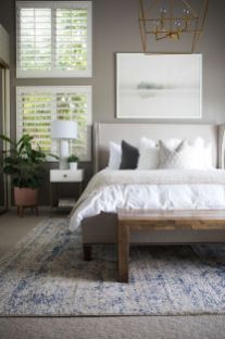 Beautiful bedroom design ideas using grey carpet 011
