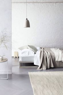 Beautiful bedroom design ideas using grey carpet 021