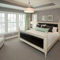 Beautiful bedroom design ideas using grey carpet 056