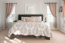 Beautiful bedroom design ideas using grey carpet 069