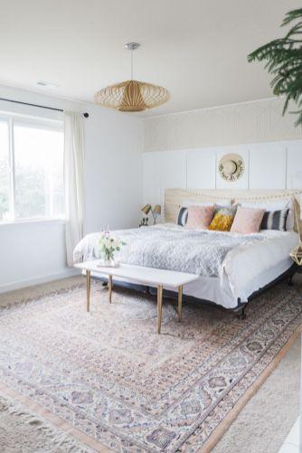 Beautiful bedroom design ideas using grey carpet 072