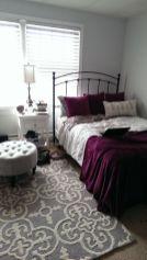 Beautiful bedroom design ideas using grey carpet 074
