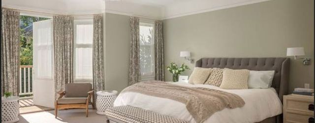 Beautiful bedroom design ideas using grey carpet 100