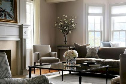 Beautiful grey living room decor ideas 43