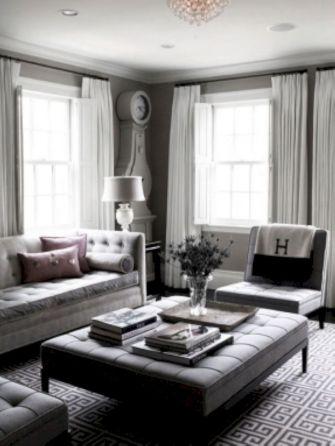 Beautiful grey living room decor ideas 47