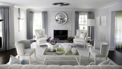 Beautiful grey living room decor ideas 53