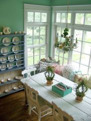 Beautiful shabby chic dining room decor ideas 11