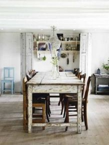 Beautiful shabby chic dining room decor ideas 13