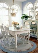 Beautiful shabby chic dining room decor ideas 16