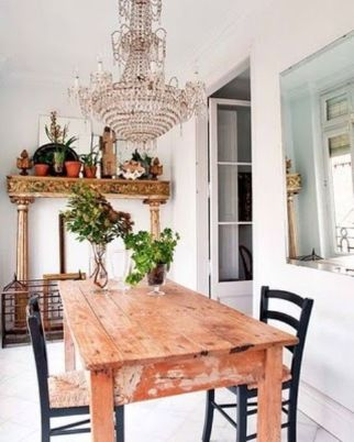 Beautiful shabby chic dining room decor ideas 20