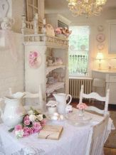 Beautiful shabby chic dining room decor ideas 21