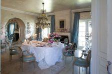 Beautiful shabby chic dining room decor ideas 27