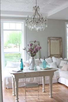 Beautiful shabby chic dining room decor ideas 28