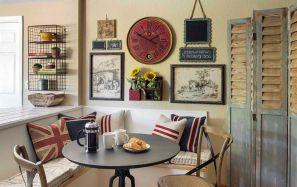 Beautiful shabby chic dining room decor ideas 29